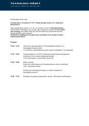 Program og deltagerliste - Bæredygtig ... - Teknologirådet