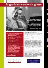 Salgsuddannelse for rådgivere - Dragsted Development