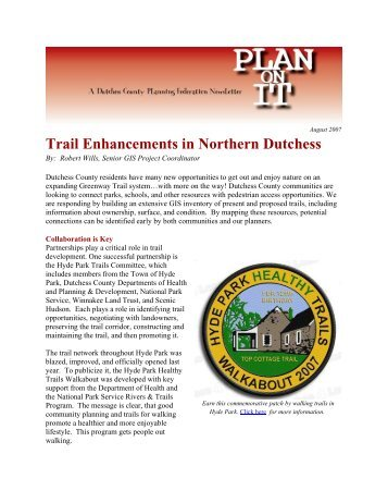 Trail Enhancements in Northern Dutchess - Dutchess County ...