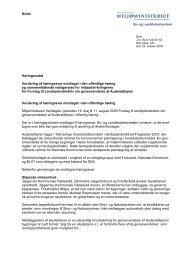 Notat Høringsnotat Vurdering af høringssvar modtaget i den ...