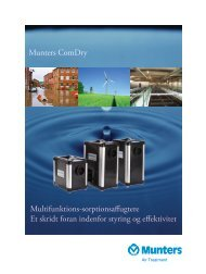 Klik her for at downloade produktbrochure - Munters A/S
