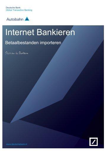 Batchbetalingen en bestanden importeren - Deutsche Bank