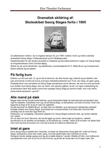 Skoleskibet Georg Stages forlis i - Fachmann.dk