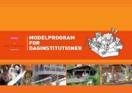 ModelprograM for daginstitutioner - Erhvervsstyrelsen