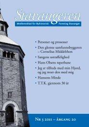 Stavangeren 3-2011 (web).pdf - Byhistorisk forening