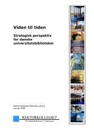 Viden til tiden - Danske Universiteter