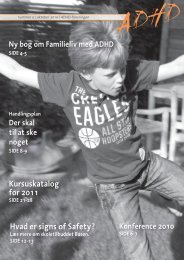 Hvad er signs of Safety? Kursuskatalog for 2011 - ADHD: Foreningen