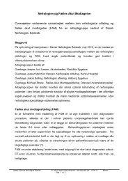 Nefrologien og Fælles Akut Modtagelse Overvejelser vedrørende ...
