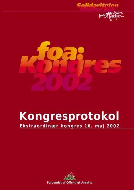 Kongresprotokol - FOA