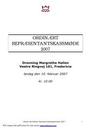 Referat 2007 - Dansk Varmblod