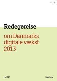 om Danmarks digitale vækst 2013 Redegørelse - Erhvervs- og ...