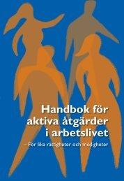 Handbok för aktiva åtgärder i arbetslivet