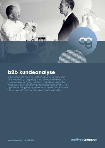 B2B kundeanalyse - Handling og positiv forandring - Analysegruppen