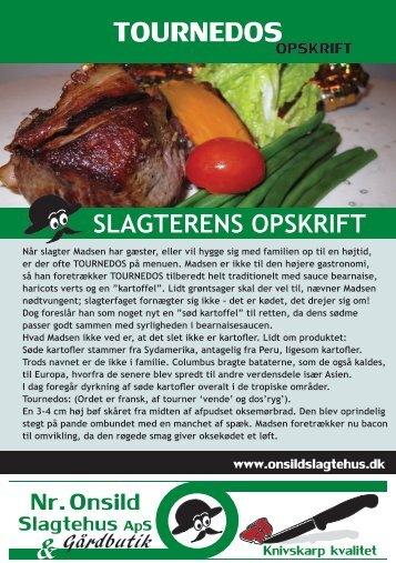 TOURNEDOS - Onsild Slagtehus