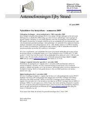 Generalforsamling den 3. marts 2009 - Antenneforeningen Ejby Strand
