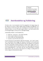 Anerkendelse og Validering - Psykologcentret i Viborg og Skive