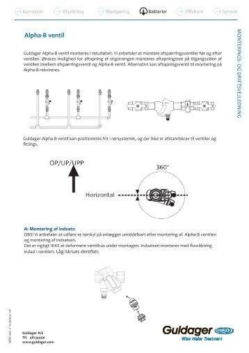 Alpha-B ventil - Guldager