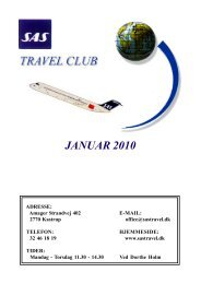 Januar - SAS Travel Club