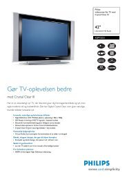 42PF3331/10 Philips widescreen flat TV med Crystal ... - Ingram Micro