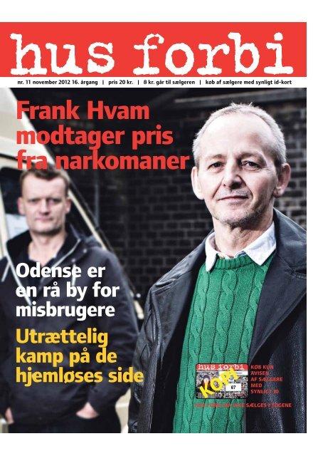 frank Hvam modtager pris fra narkomaner - Hus Forbi