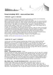 Femø kvindelejr 2012 – mere end bare ferie