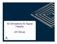 3D Simulations for Signal Integrity