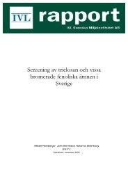 Screening av triclosan och vissa bromerade fenoliska ämnen i ...