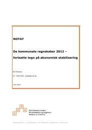 NOTAT De kommunale regnskaber 2012 – fortsatte tegn på ... - KORA