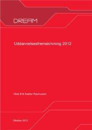 DREAMs uddannelsesfremskrivning 2012