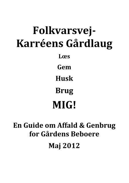 Folkvarsvej Karreens Gårdlaug - Folkvarsvej-Karréens Gårdlaug