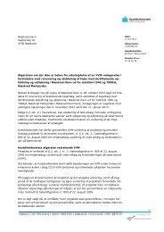 Næstved Havn Vestre Kaj 16 4700 Næstved Afgørelsen om der ikke ...
