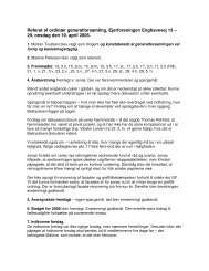 Referat generalforsamling for ejerforeningen i 2006