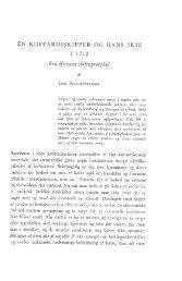 EN KOFFARDISKIPPER OG HANS SKIB I 1712 Fra - Handels- og ...
