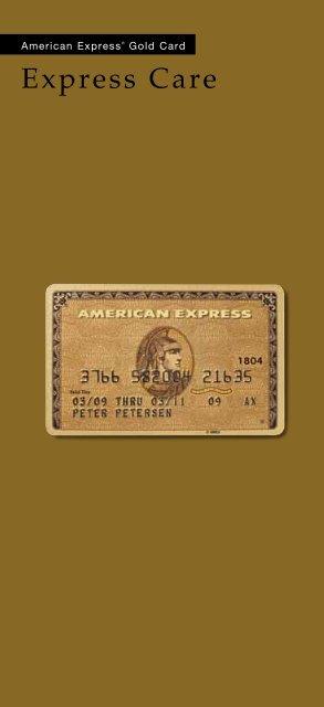 Forsikringsbetingelser American Express Gold Card