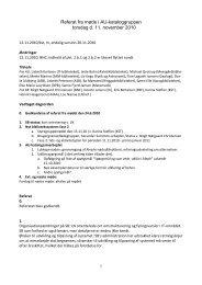 Forslag til dagsorden til næste møde (nr