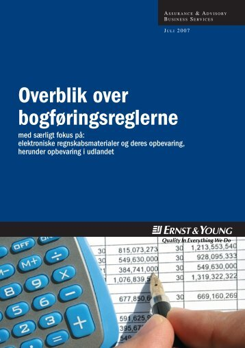 Overblik over bogføringsreglerne - Ernst & Young