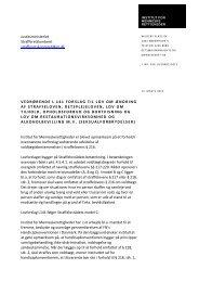 Vedrørende l 141 forslag til lov om ændring af straffeloven ...