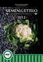 Siemenluettelo 2012 siemenet - S.G.Nieminen Oy