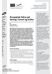 Europæisk fokus på læring i kunst og kultur - Interfolk