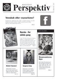 Læs hele bladet - pdf - Kristent Perspektiv