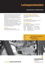 Lastvognsmekaniker (pdf) - Learnmark Horsens