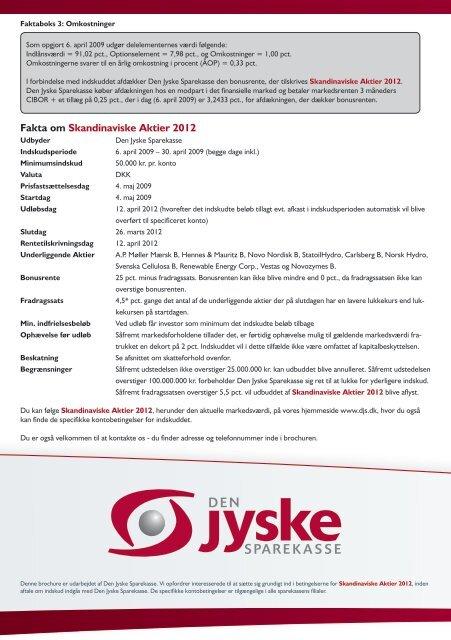 Brochure - Den Jyske Sparekasse