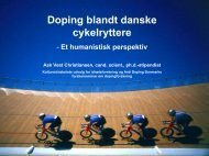 Doping blandt danske cykelryttere - Kunst.dk