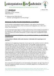 Høringssvar fra LNS til Fødevarestyrelsen vedr. udkast til ændret ...