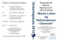 Martin Luther og reformationen i Danmark.indd - Kirkerup Kirke