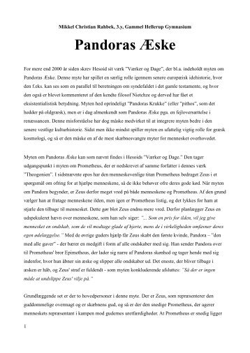 essay om Prometheusmyten - Emu
