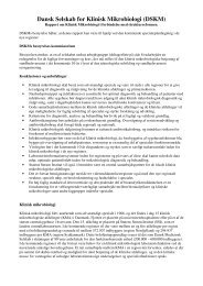 Strukturrapporten - Dansk Selskab for Klinisk Mikrobiologi