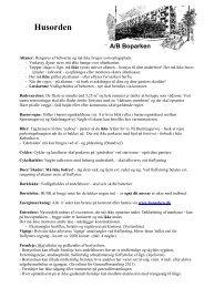 Husorden + Praktiske oplysninger 20130326