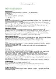 Abonnementsbetingelser - Jyllands-Posten Mit JP