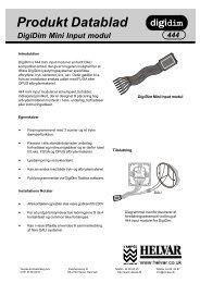 Produkt Datablad - Vanpée & Westerberg